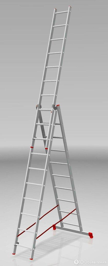 Лестница  трехсекционная алюминиевая до 150кг 3х10 (6,31 м) Новая высота 2230310 по цене 17230₽ - Готовые строения, фото 0