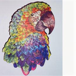 Пазлы - Попугай Пазл деревянный A4 K5048, 0
