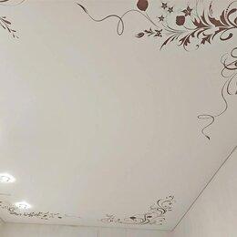 Потолки и комплектующие - Натяжные потолки с орнаментом по углам, 0