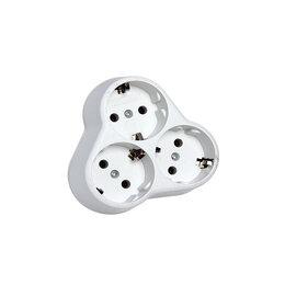 Мебель для кухни - Разветлит.3гн.с/з круглый белый 16А 250В, 0