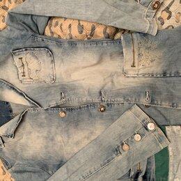 Пиджаки - Джинсовый пиджак ,фирменный италия, 0