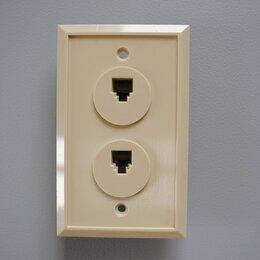 Электроустановочные изделия - Телефонная розетка PCnet TWO-4 6P4C, 0