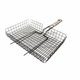 Решетки - Решётка для барбекю Лидер большая глубокая эмаль разм 41х33,5х6 см, 0