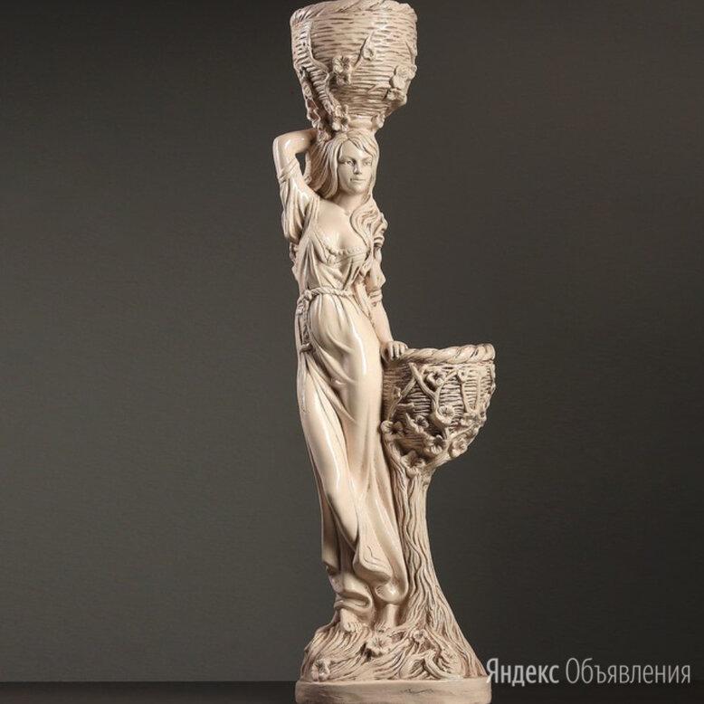 """Фигура садовая  """"Девушка с двумя кашпо""""96 см по цене 2400₽ - Садовые фигуры и цветочницы, фото 0"""