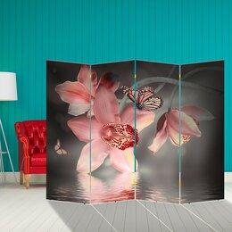 """Диваны и кушетки - Ширма """"Орхидея. Водная гладь"""", 200 × 160 см, 0"""
