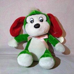 Мягкие игрушки - Мягкая игрушка – зеленая собачка, 0