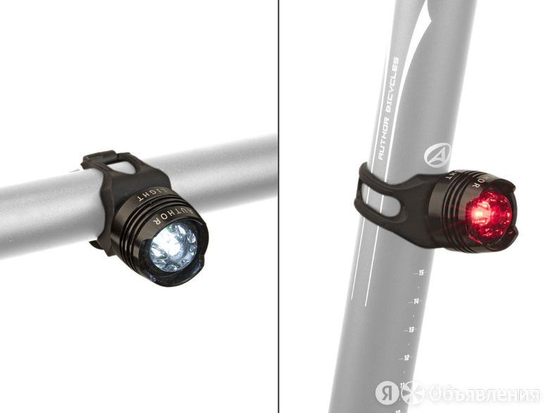 Фонарики велосипедные AUTHOR SPARK AL, 5 люмен, передний и задний, на батарейк по цене 776₽ - Фонари, фото 0