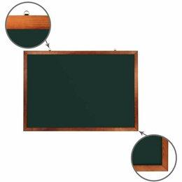 Доски - Доска для мела магнитная 100х150 см, зеленая,…, 0