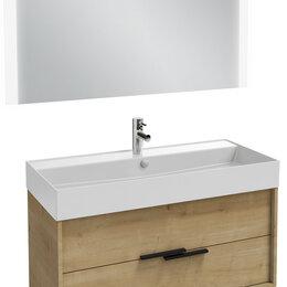 Раковины, пьедесталы - Мебель для ванной Jacob Delafon Vivienne 100 арлингтонский дуб, ручки на выбор, 0