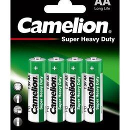 Батарейки - Элемент питания солевой R R6 BL-4 (блист.4шт) Camelion 1669, 0