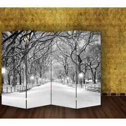 Ширмы - Ширма 'Зимний парк', двухсторонняя, 200 x 160 см, 0