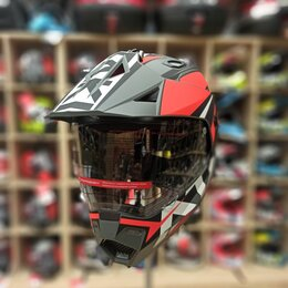 Мотоэкипировка - Шлем Мотард для мотокросса ataki, 0