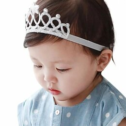 Украшения для девочек - Повязка для малышей с короной, 0