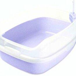Биотуалеты - Туалет прямоугольный сиреневый. большой с бортом и совком 62*46*25, 0