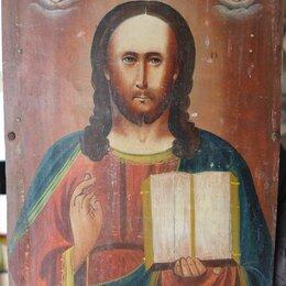 Иконы - икона Господь Вседержитель, коллекционная ,19 век, 0