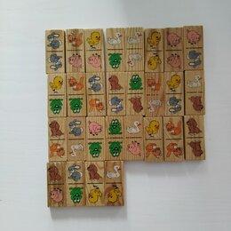 Настольные игры - Детское деревянное домино, 0