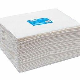 Полотенца - Полотенце большое «White Line» 45*90 пачка белый спанлейс (50 шт), 0