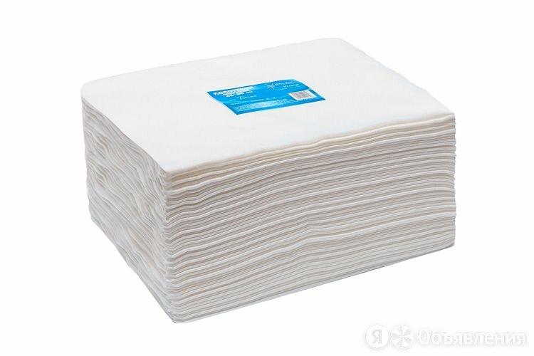 Полотенце большое «White Line» 45*90 пачка белый спанлейс (50 шт) по цене 525₽ - Полотенца, фото 0