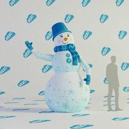 Рекламные конструкции и материалы - Снеговик с машущей рукой, 0