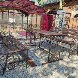 Комплекты садовой мебели - Комплект садовой мебели, садовая мебель, скамейка, стол с ковкой , 0