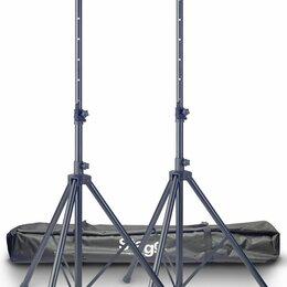 Процессоры и педали эффектов - Stagg SPS10-AL BK SET 2 алюминевые стойки под акустические системы с нейлоновым , 0