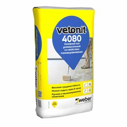 Строительные смеси и сыпучие материалы - Пол наливной weber vetonit 4080 универсальный самовыравнивающийся, 0