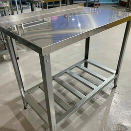 Мебель для учреждений - Стол производственный пристенный из нержавейки 1200*600*850, 0