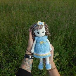 Мягкие игрушки - Вязаная кукла, 0