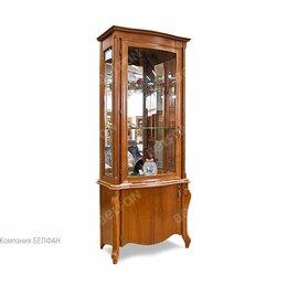 """Кровати - Шкаф с витриной """"Луиза"""" 1-но дв. высокий (левый); коньяк, 0"""