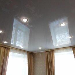 Потолки и комплектующие - Глянцевый потолок с установкой и профилем, 0