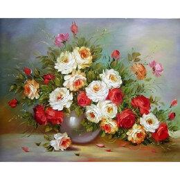 Дизайн, изготовление и реставрация товаров - Букет роз в вазе Артикул : GB 74191, 0