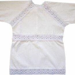 """Крестильная одежда - Крестильная рубашка """"Папитто"""" с гипюром (размер 20-24, рост 62-68 см), 0"""