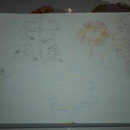 Картины, постеры, гобелены, панно - Рисунок весна идет весне дорогу карандашом, 0