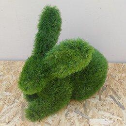 Садовые фигуры и цветочницы - Фигура из искусственной травы - Заяц, 0