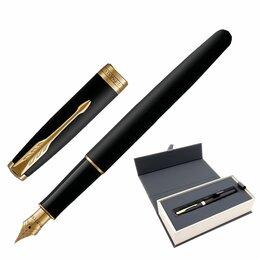 Канцелярские принадлежности - Ручка перьевая PARKER «Sonnet Core Matt Black GT», корпус черный матовый лак, по, 0