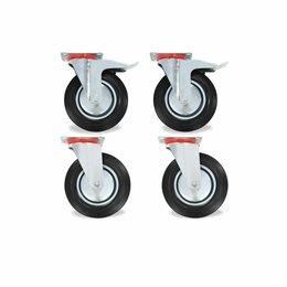 Оборудование для транспортировки - Колесная опора для транспортных тележек ф200 мм с тормозом / без тормоза, 0