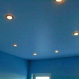 Потолки и комплектующие - Матовый натяжной потолок с точечным освещением, 0