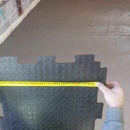 Плитка ПВХ - Резиновая плитка для пола гаража  или мастерской, 0