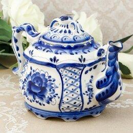 Заварочные чайники - Чайник «Сидоров», гжель, 0