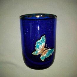 Посуда - Стакан из синего стекла (винтаж), 0