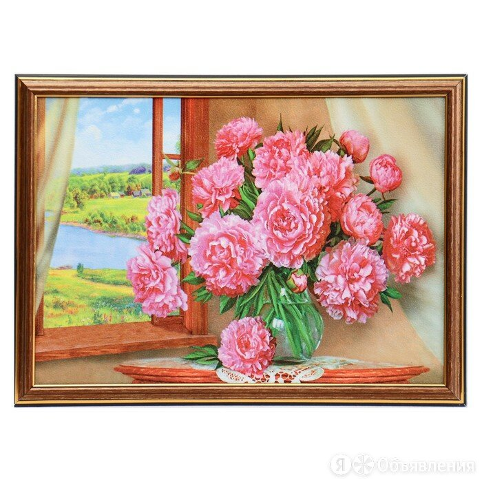 """Картина """"Пионы у окна"""" 28х38 см по цене 730₽ - Интерьерная подсветка, фото 0"""