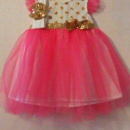 Платья и юбки - Красивое пышное платье для малышки,и для головы бантик,возраст от 9 до 1 года., 0