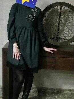 Платья - Платье серое, тонкая шерсть 44-46-48 р. , 0