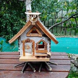 Миски, кормушки и поилки - Деревянные домики кормушки для птиц, 0