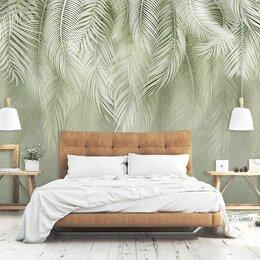 Обои - Фотообои. Пушистые листья пальмы в зеленых тонах, 0