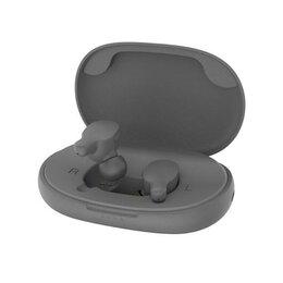 Наушники и Bluetooth-гарнитуры - Беспроводные наушники REMAX True WIreless Atereo Headset TWS-3 (Серые), 0