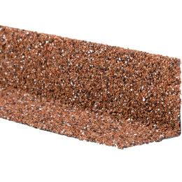 Отделочный профиль, уголки - Уголок внутренний металлический HAUBERK Красный 50*50*1250мм, 0