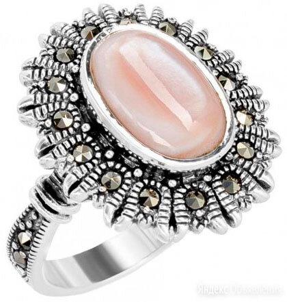 Кольцо Марказит HR0868-perlamutr-rozovyj-mr_18 по цене 2650₽ - Кольца и перстни, фото 0