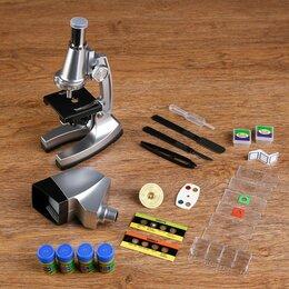 Микроскопы - Микроскоп с проектором, кратность увеличения 50-1200х, с подсветкой, 2АА, 0