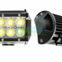 Электрика и свет - Фара светодиодная противотуманная ДХО 6 LED 18W 12/24В, 0